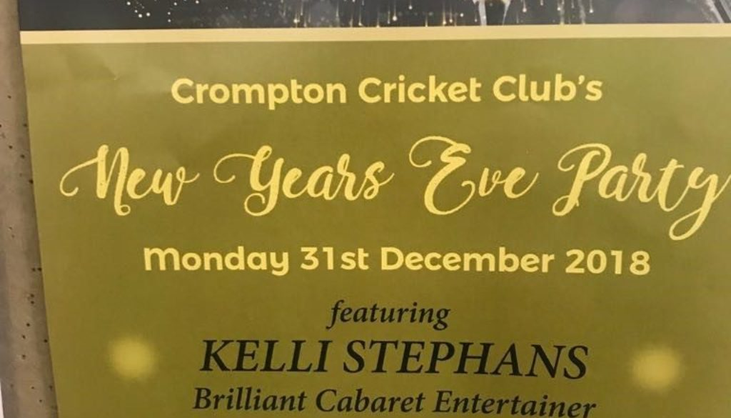 crompton cricket club new years eve party 2018