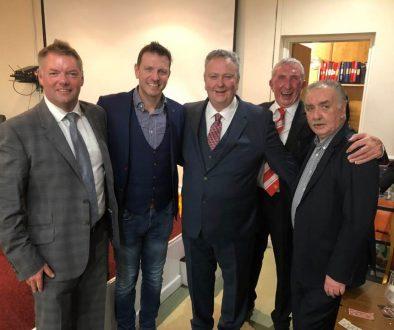crompton cricket club sportsmans dinner with lee sharpe