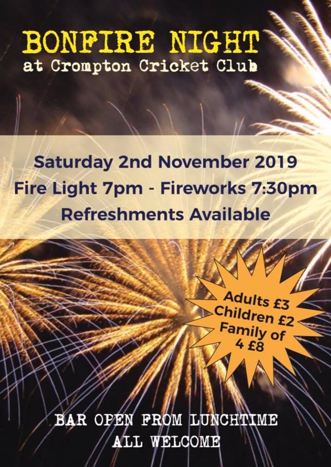 Crompton Cricket Club Bonfire Night